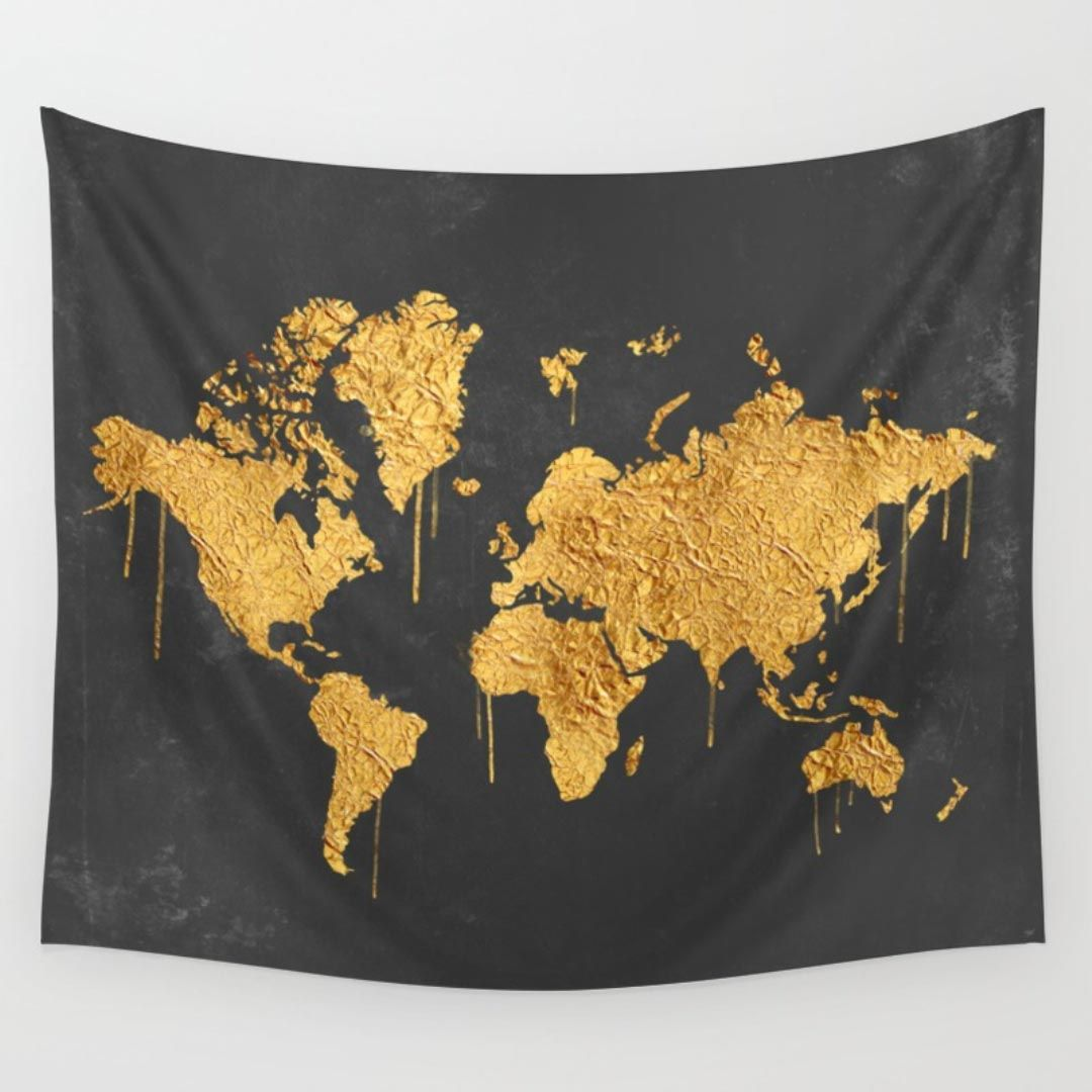 Gold world map tapestry tapestries pinterest tapestry dorm gold world map tapestry gumiabroncs Images