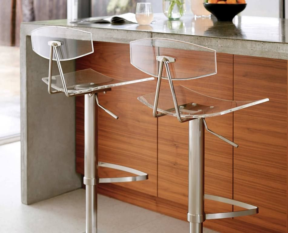 Interior: Traditional Transparent Bar Stools And Clear Bar