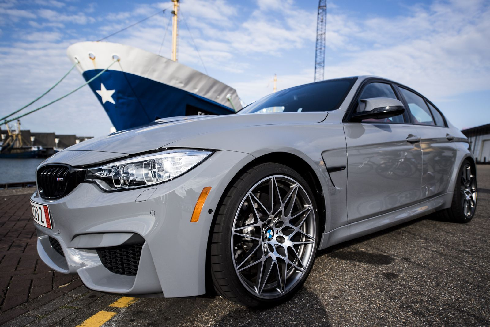 Check out this awesome bmw m3 competition package painted nardo grey