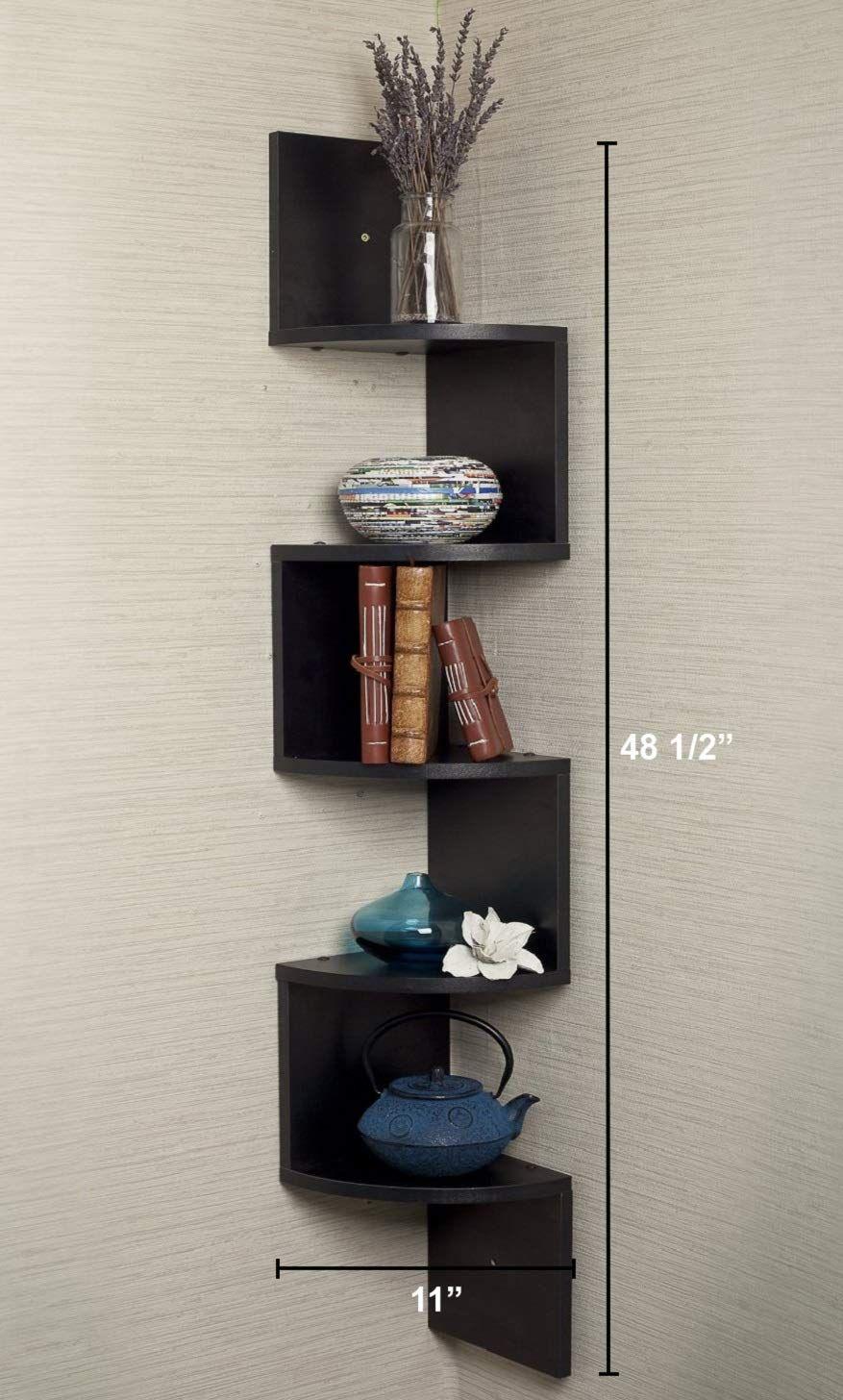 20 Best Floating Shelves That Instantly Free Up Space Storables In 2020 Wall Mounted Corner Shelves Corner Decor Corner Shelves