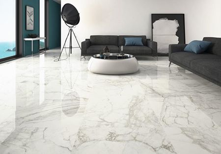 Love the #stunning look of #marble tiles. Pictured – Luni Blanco ...