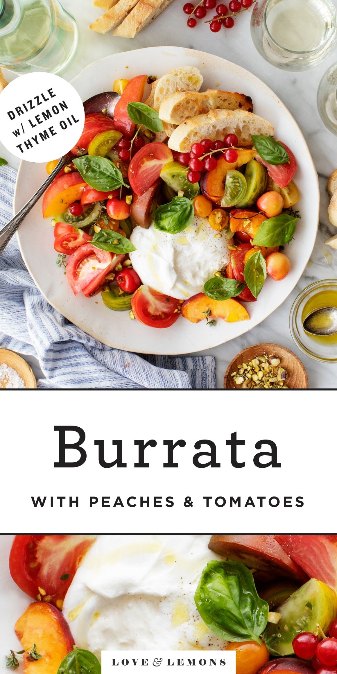 Burrata with Heirloom Tomatoes Recipe - Love and Lemons
