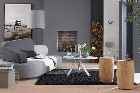 Die Farbe Grau Setzt Die Basis Für Stimmige Farbbeziehungen: Kombiniert Mit  Warmen Holz Entsteht Gemütlichkeit