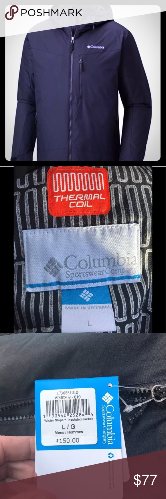 Columbia Wister slope jacket thermal coil insulate ...