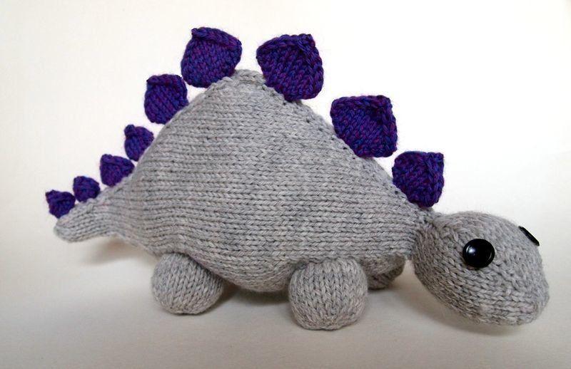 Free Knitting Pattern Toys Dolls Stuff Animals Dinosaur Jr