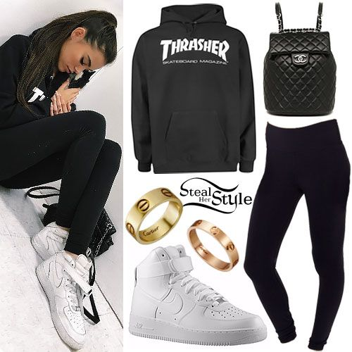 1493f9f24bd7 Madison Beer: Thrasher Hoodie, High-Top Sneakers | Celebrity fashion ...