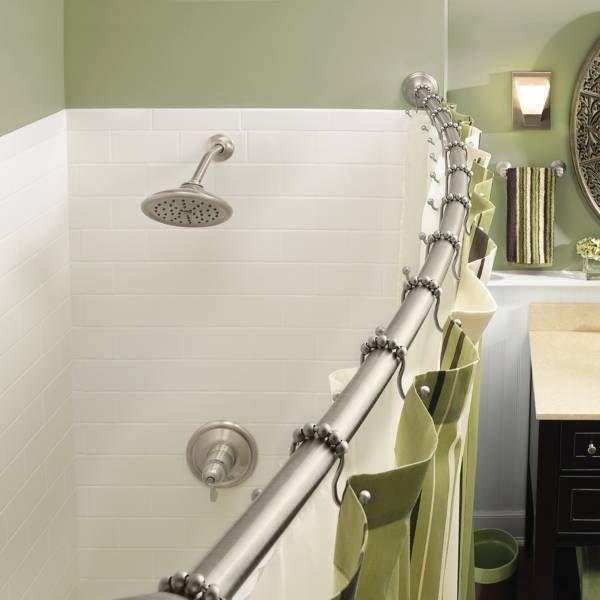 Moen® Adjustable Curved Brushed Nickel Shower Rod