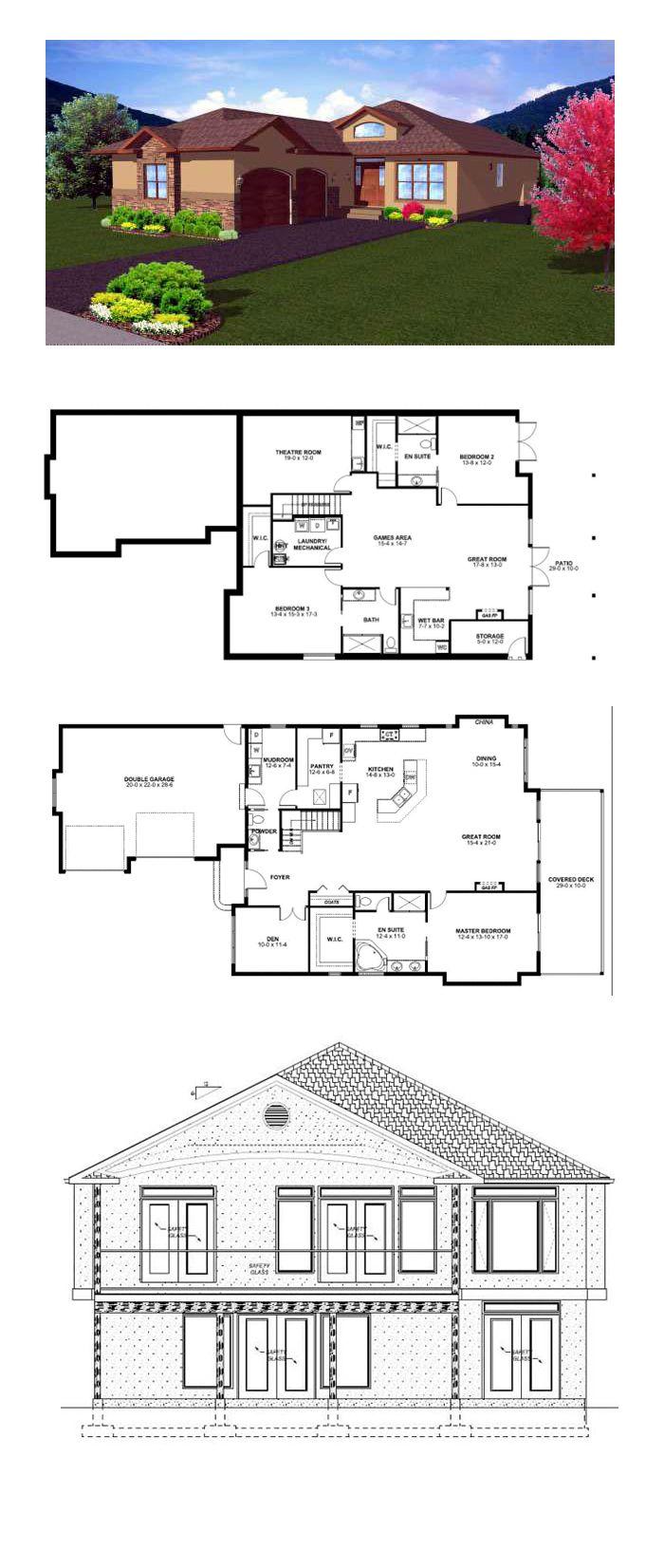 Hillside House Plan 99981 Total Living Area: 1796 sq ft