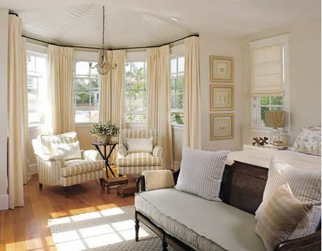 Bay Window Curtains  Great Room  Pinterest  Bay Windows Bed Endearing Living Room Bay Window Designs Design Inspiration