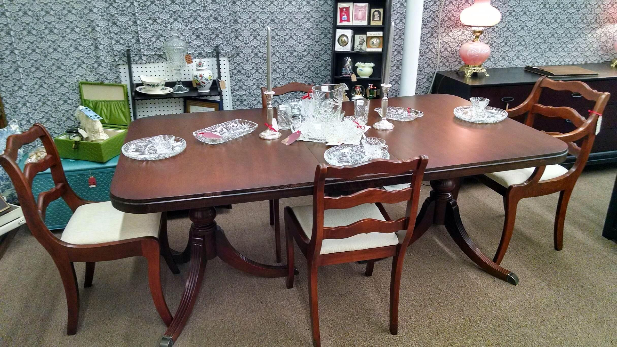 1955 Drexel Duncan Phyfe Table And 4 Chairs Just Arrived In Our