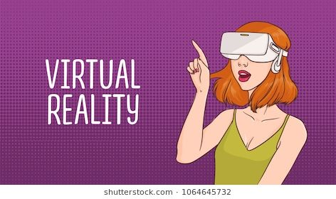 Young Girl Wearing 3d Virtual Reality Glasses Icon Avatar