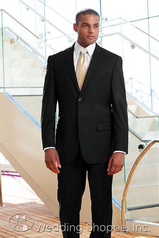 Jim\'s Formal Wear Mens Wedding Suits Black Slim Fit Two Button ...