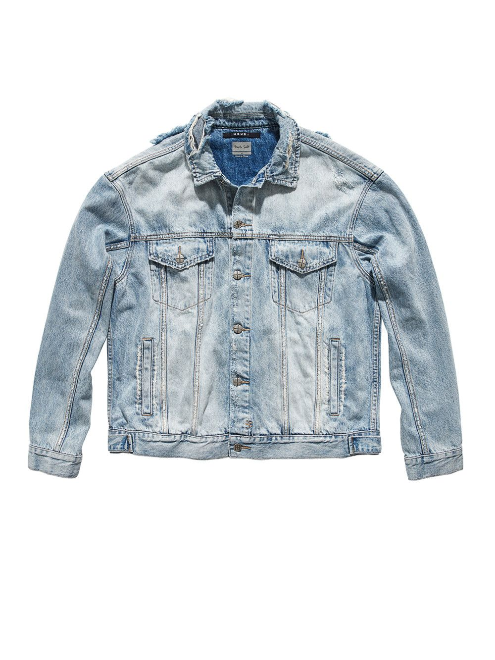 KSUBI X TRAVIS SCOTT Oh G ghosted denim jacket.  ksubixtravisscott  cloth   ac90ae9ba