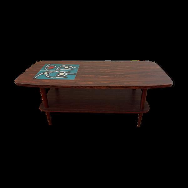 Table Basse Annees 60 En 2020 Table Basse Table Et Ceramiques Peintes A La Main