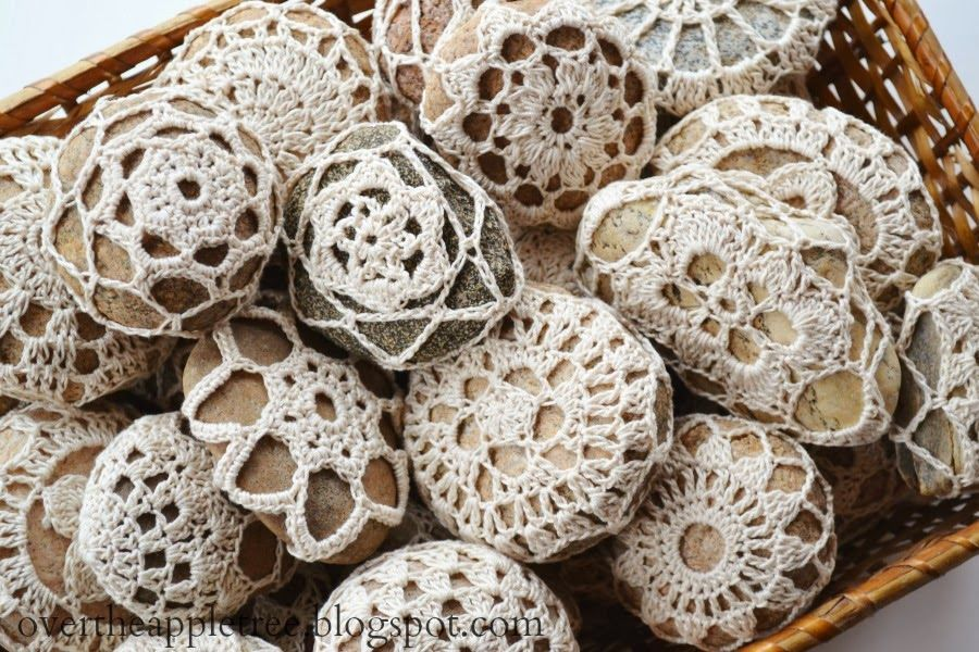 Crochet River Rocks Make Unique Wedding Favors By Over The Apple