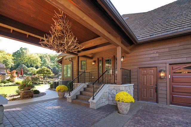 Chesterfield Mo Garage Clubhouse Addition House With Porch Manufactured Home Porch Breezeway