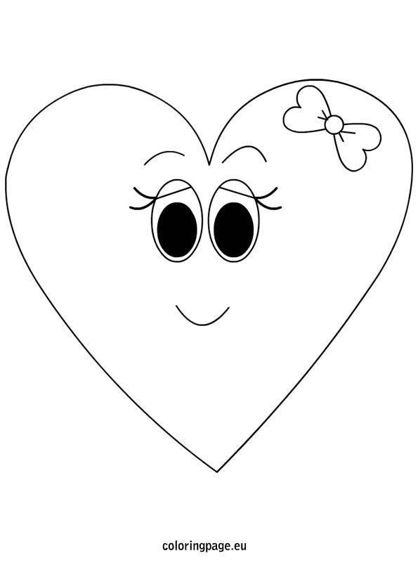 Girl Cartoon Heart Coloring Cartoon Heart Heart Coloring Pages Girl Cartoon