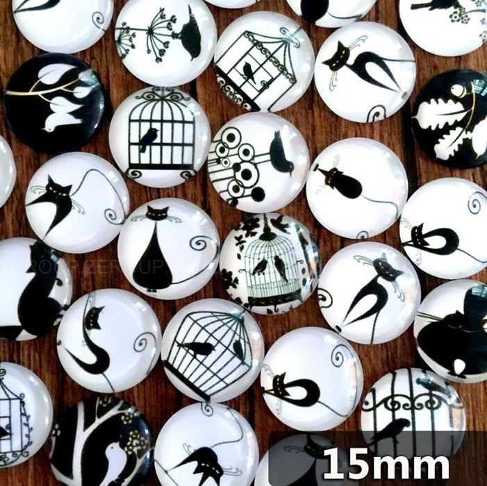 Round Glass Cabochon 10-16mm Mixed Photo Embellishment Setting Supplies for jewelry Finding fermoirs bijoux manualidades 50pcs