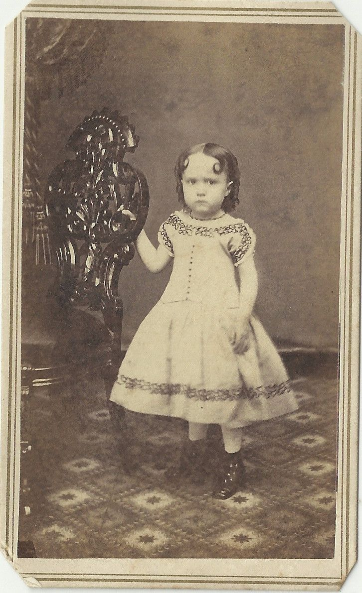 Antique Civil War Era CDV Photo Cute Girl Pretty Dress Plattesville Wisconsin | eBay