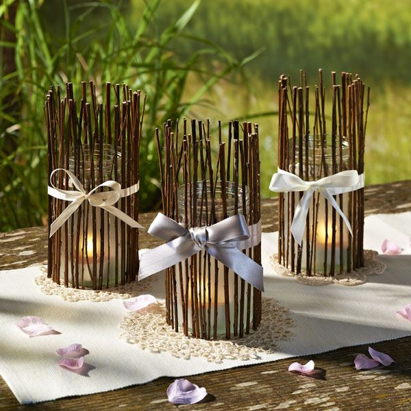 Woodland candle holders craft ideas inspirational for Candle craft ideas