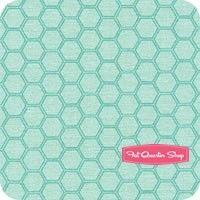 Bee My Honey Teal Buzz Honeycomb Yardage <br/>SKU