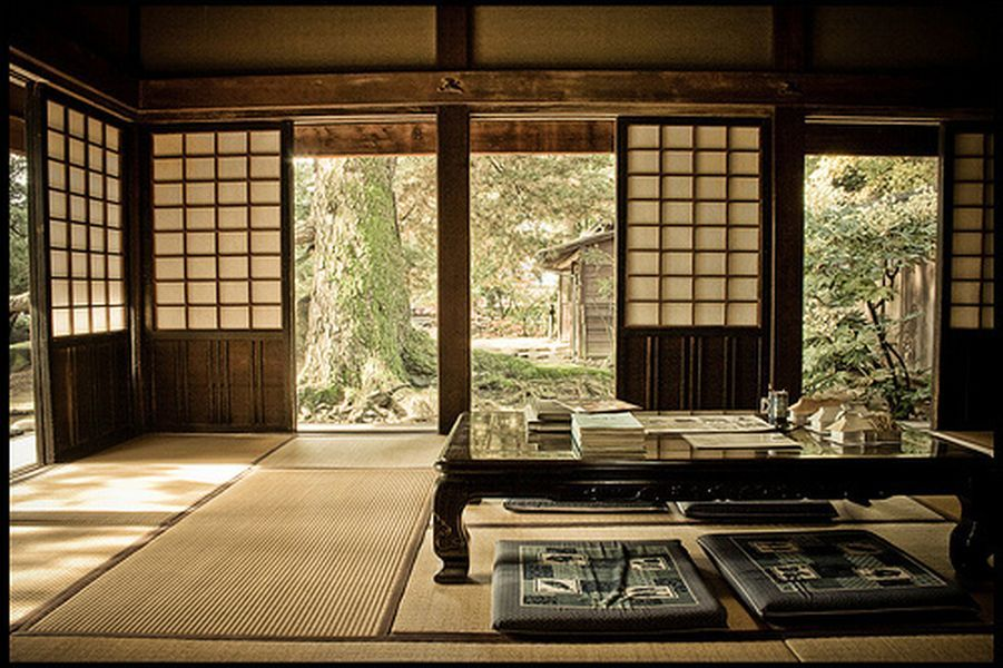 Traditional japanese style home design and interior for for Modern japanese tea house design