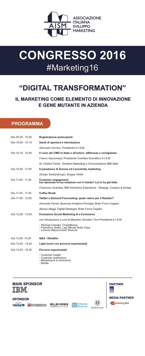 Congresso AISM 2016 #Marketing16