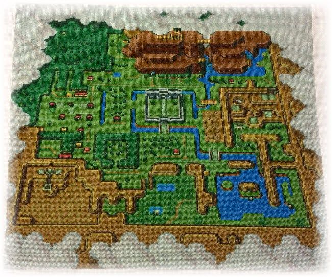 Link To The Past Light World Map.Legend Of Zelda A Link To The Past Light World Map Cross Stitch