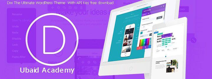 Divi The Ultimate WordPress Theme With API Key | WordPress Themes ...