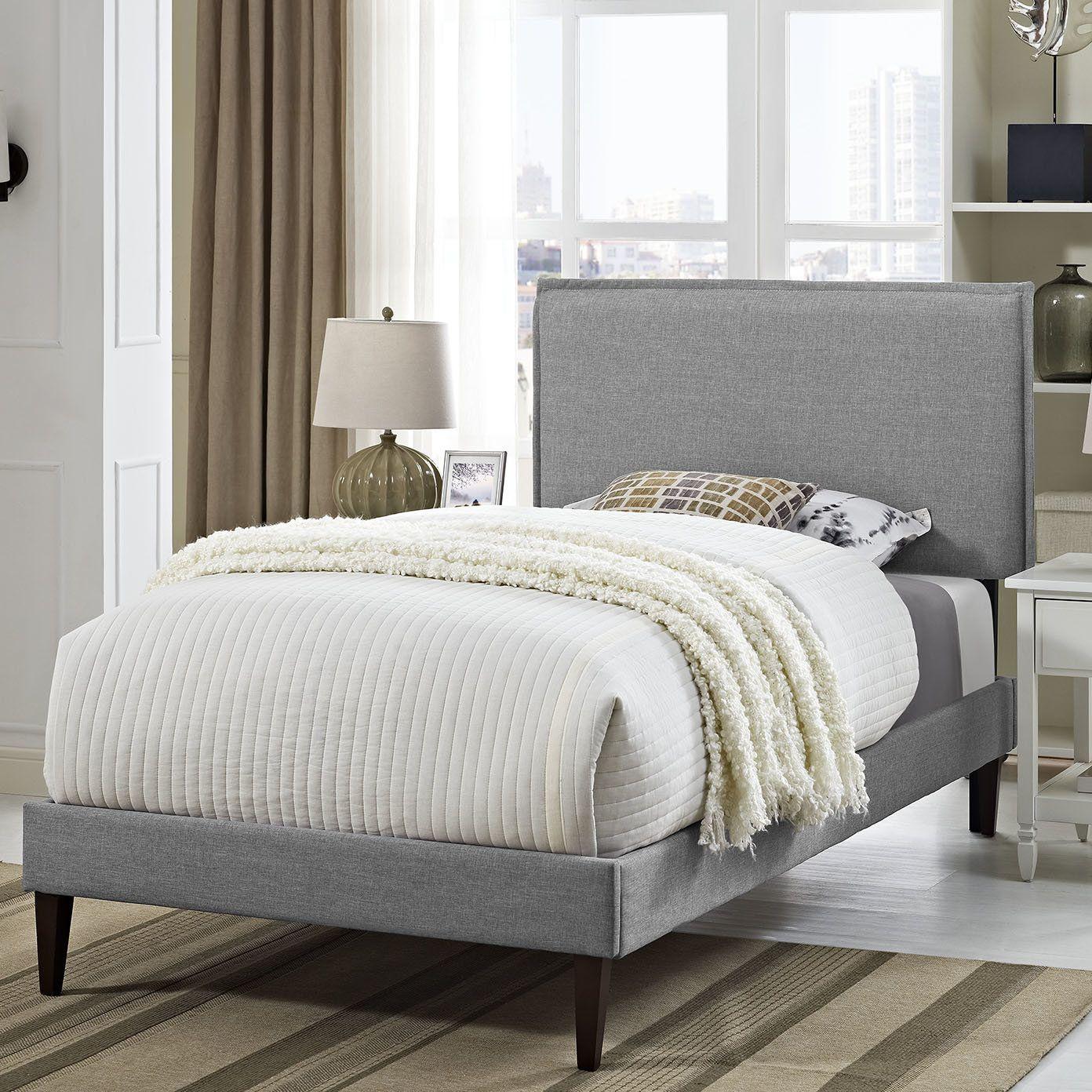 Best Dorinda Spindle Queen Platform Bed Upholstered Platform 400 x 300