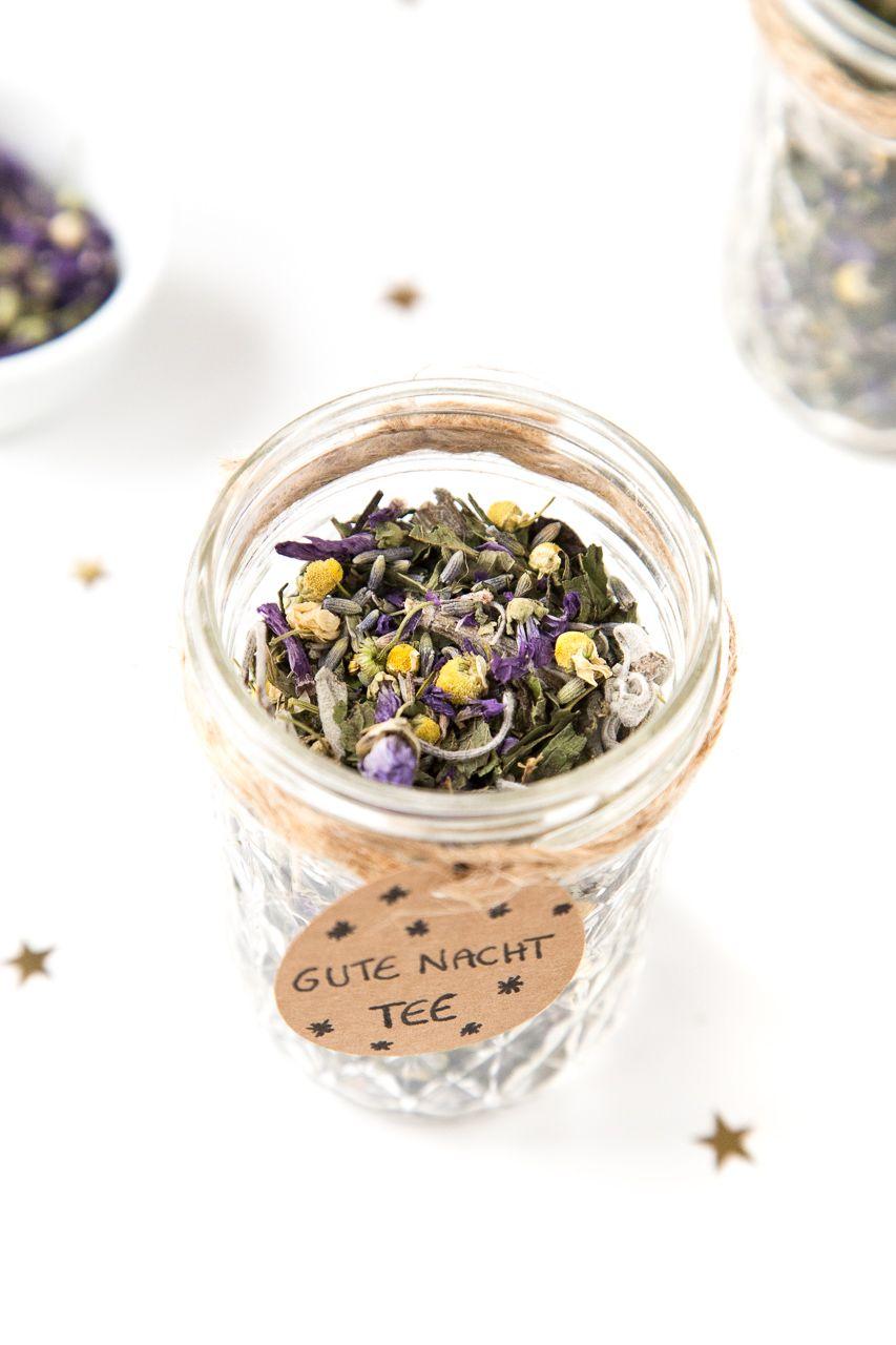 Geschenkidee: Gute Nacht-Tee Mischung im Glas | Gute nacht, Nacht ...