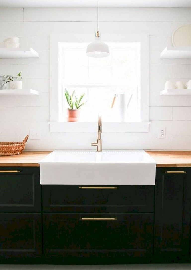 65 beautiful modern farmhouse kitchen makeover decor