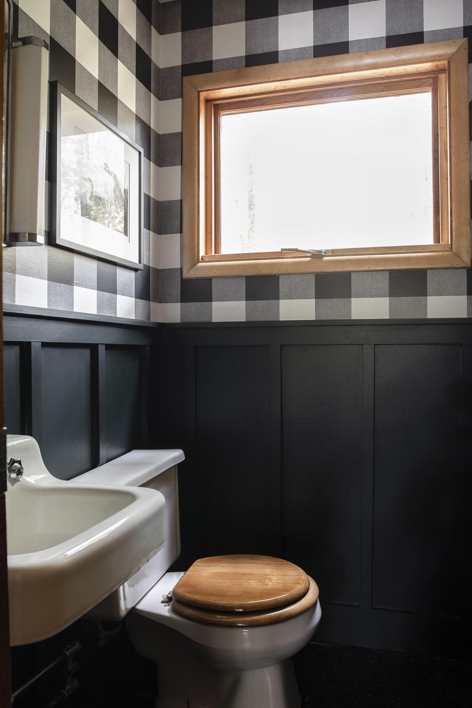 Progress Report : Cabin Half Bath -  Transforming a tiny Cabin Bathroom   Deuce Cities Henhouse  - #bath #cabin #cabindecor #diyhomedecorlighting #diyInteriordesign #Livingroomdecor #Progress #Report