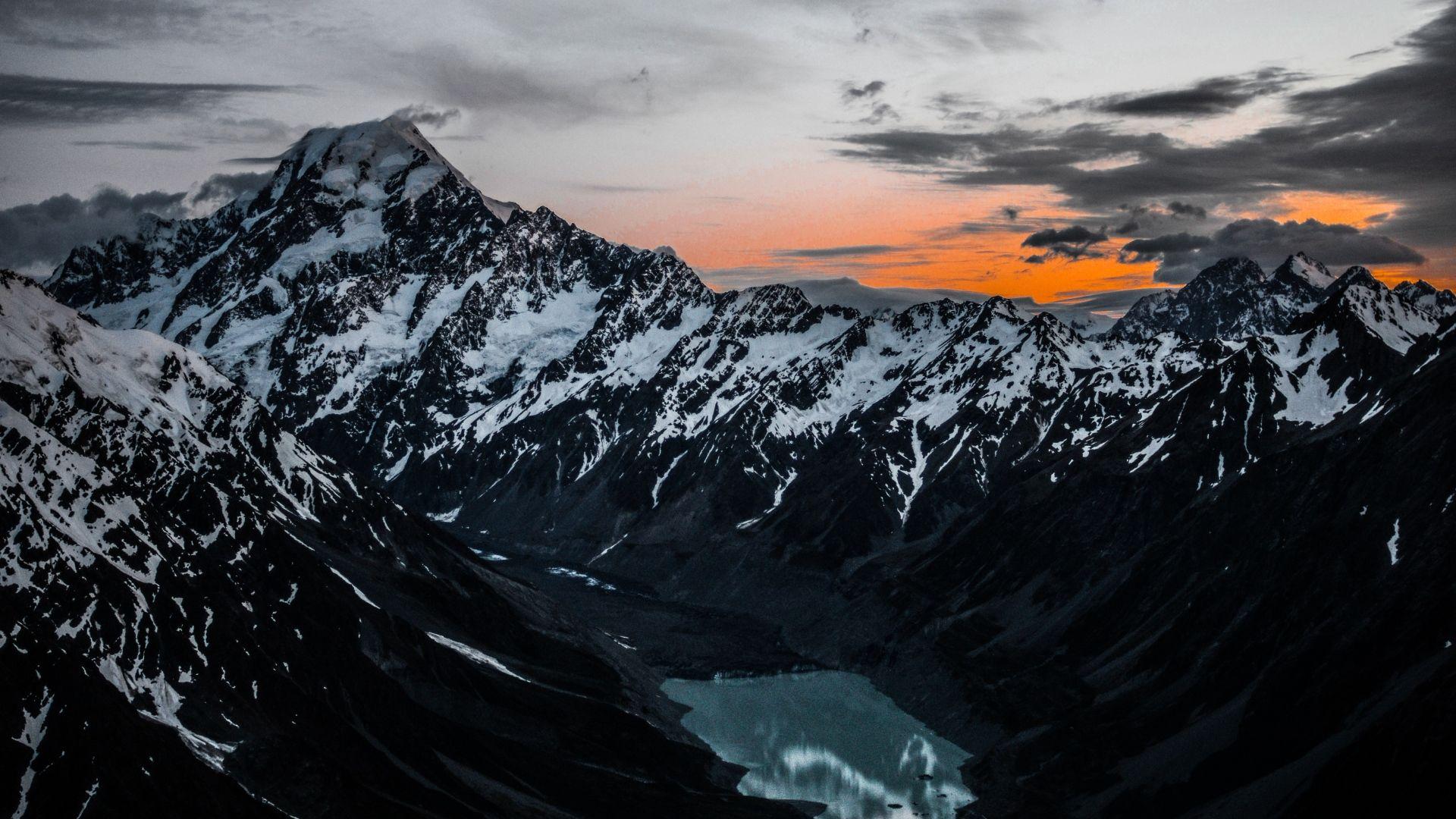 1920x1080 Wallpaper Mountains Lake Tops Top View Nature Desktop Wallpaper Mountain Wallpaper View Wallpaper