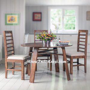 meja makan minimalis model bundar   ide dekorasi rumah