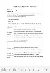 Sample Printable Affidavit Of Ownership  Form  Sample Real