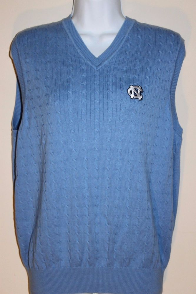 Tommy Hilfiger 100% Cotton Vest Blue North Carolina Tar Heels Golf ...