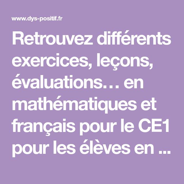 CE1 - Fiches à imprimer et exercices en ligne pour les ...