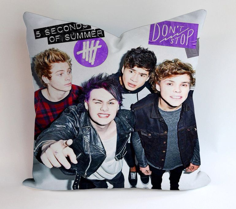 5sos Dont Stop Pillowcases Pillow Cases Covers Square Design Home