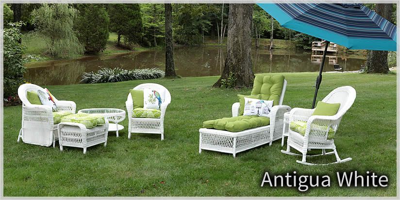 White Wicker Outdoor Patio Furniture