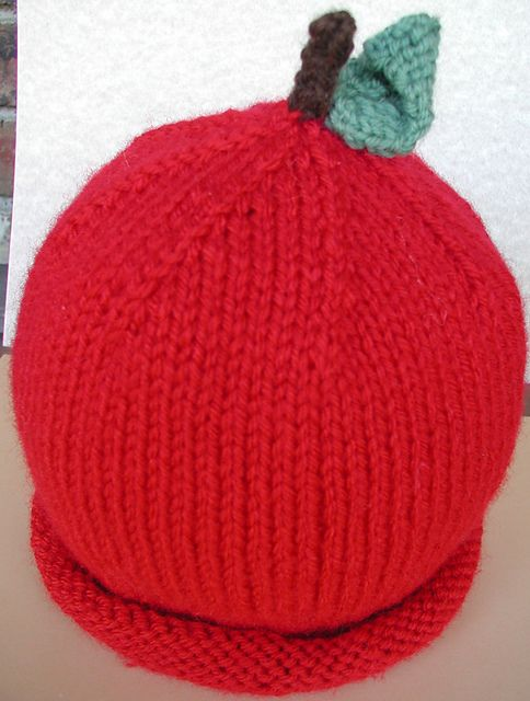 apple hat knitted | Apple hat, Knitted hats, Hats