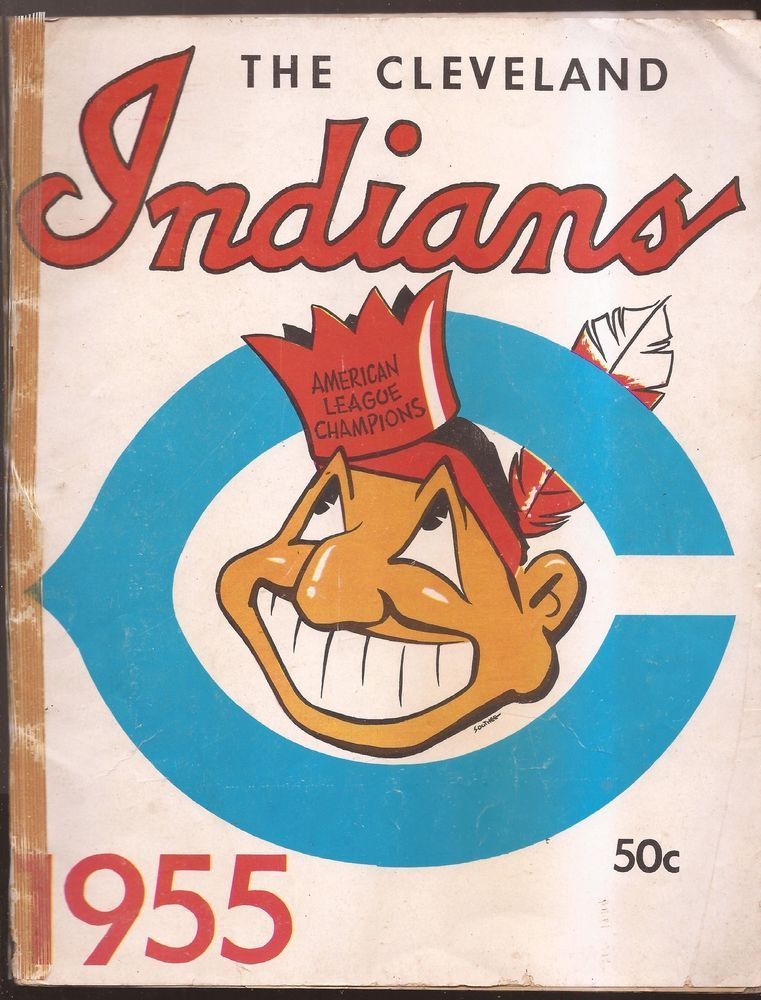 rare 1955 cleveland indians official Yearbook ( MLB