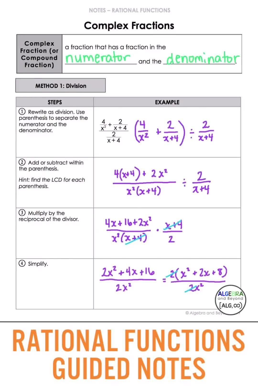 Rational Functions Video In 2020 Rational Function Education Math High School Math