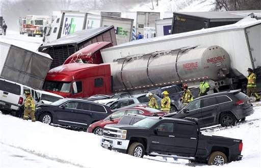 Multiple Fatalities Reported In Big I 78 Pileup 40 Taken To
