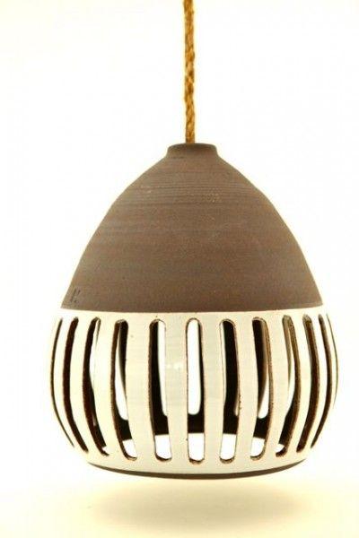 heather levine lamp, porcelain slip on stoneware