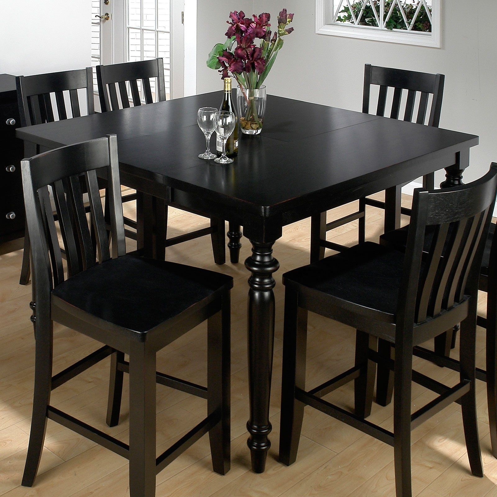 Tall Black Kitchen Table And Chairs | http ...