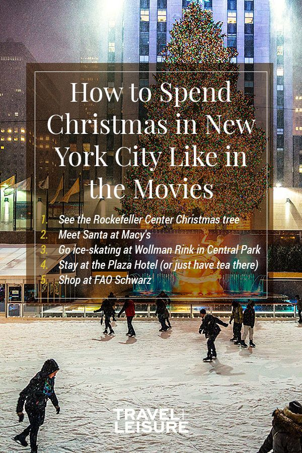 Christmas in New York City - Perhaps the most famous holiday attraction in New York City, the Rockefeller Center Christmas Tree is a sight. Rent some skates or just enjoy the view of the tree that, tall as it is, is no match for the grandeur of Rockefeller Center. #RockefellerChristmasTree #ChristmasinNewYork #holidaytravel #NewYorkCity | Travel + Leisure - How to Spend the Holidays in New York City