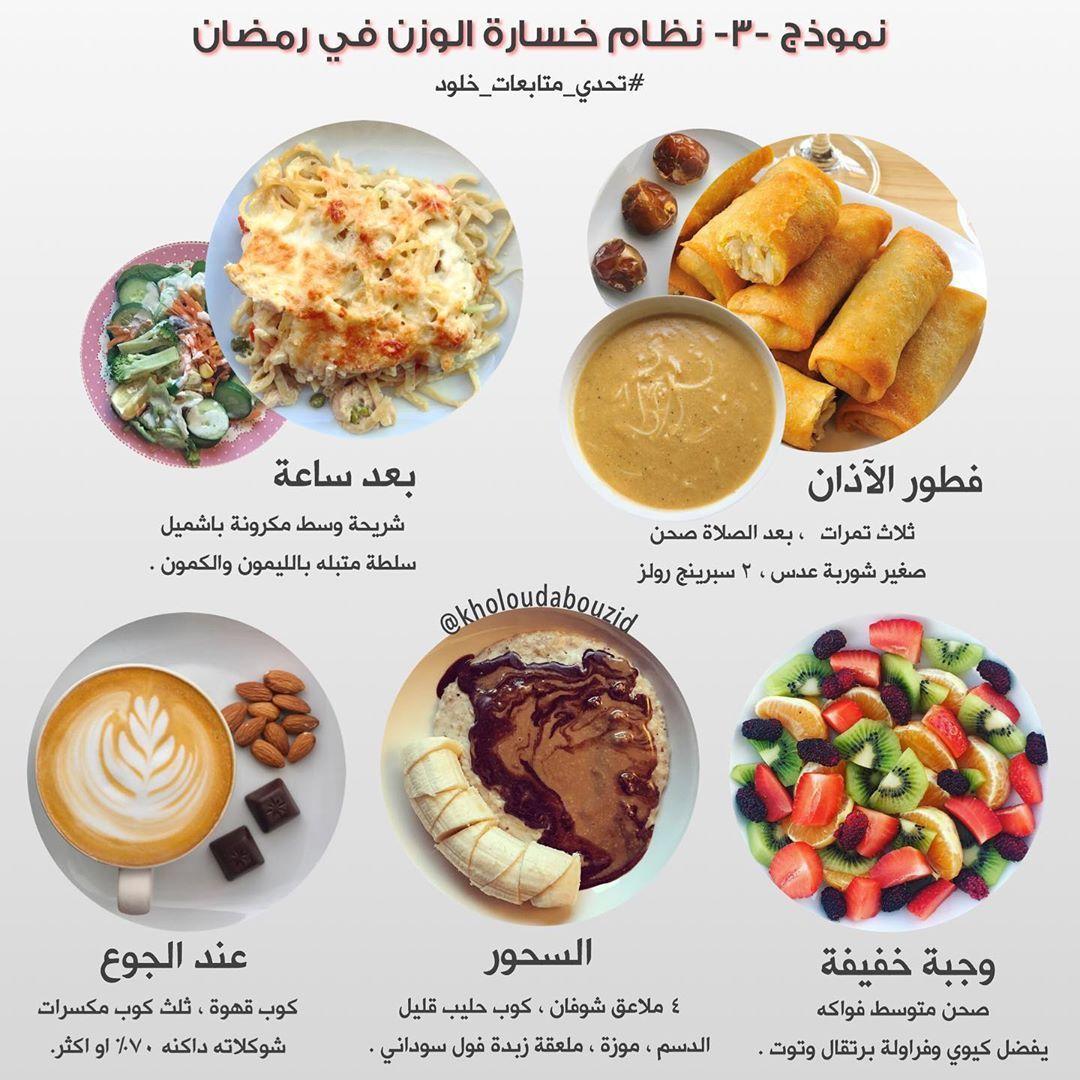 السلام عليكم ورحمة الله وبركاته نموذج من نماذج صيام رمضان وباقي نماذج كثير راح تنزل لكن بإذن الله Healty Food Health Facts Food Health Fitness Food