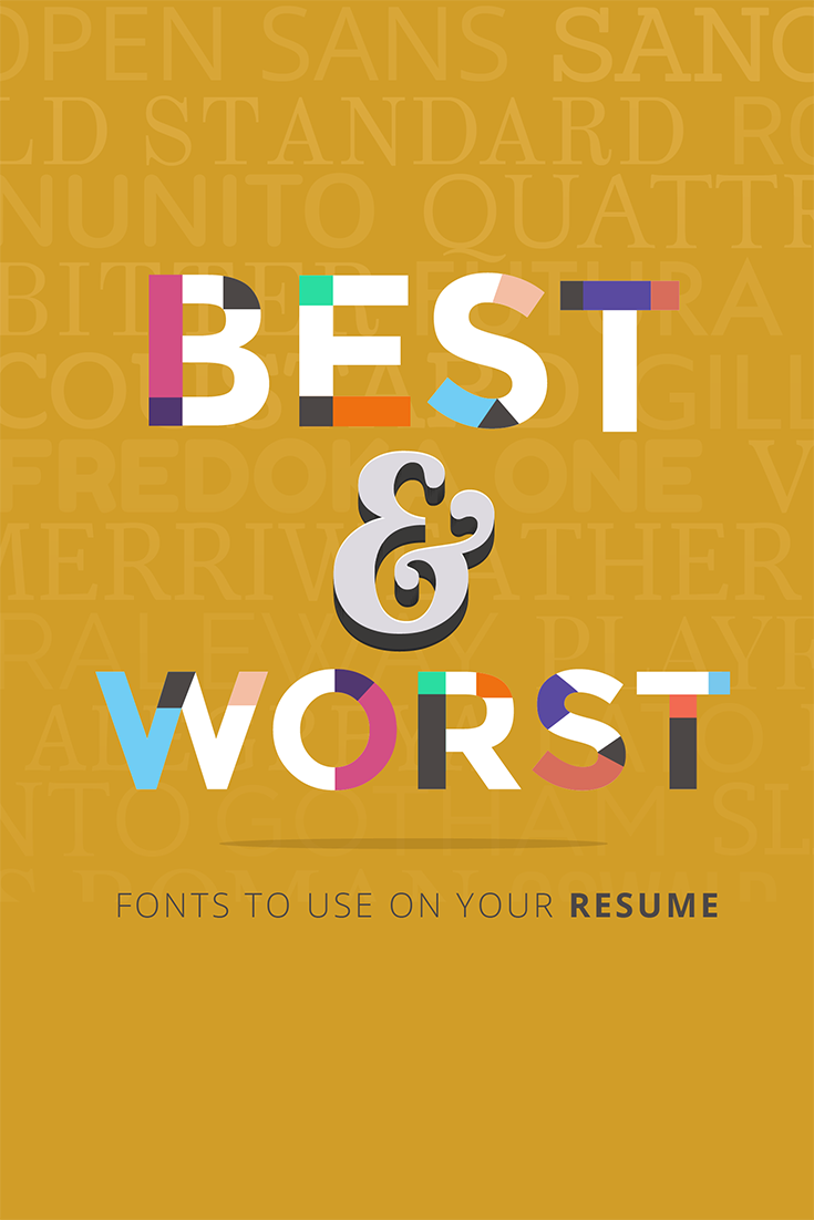 Standard Resume Font 20 Best And Worst Fonts To Use On Your Resume  Design Resources .