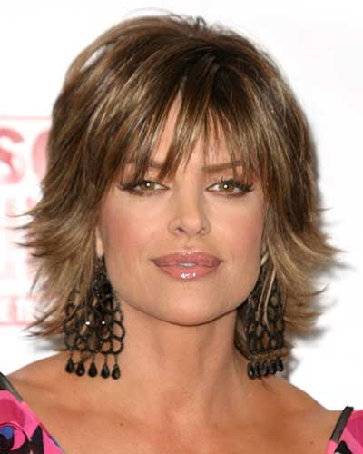 Shag Hairstyles Awesome Lisa Rinna Hairstyles  Lisa Rinnas Short Shag Hairstyle  Stacie